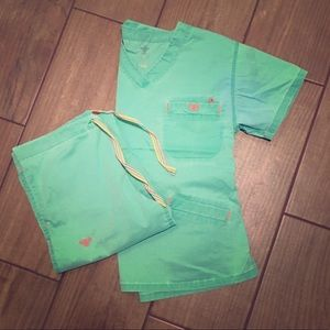 Med Couture Scrub Set Small Neon Green